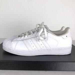 Adidas women's Superstar Tennis Shoe White 8.5